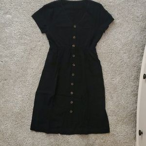 Amazon midi black skater dress with pockets